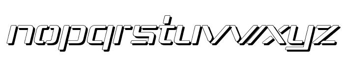 Republika IV Exp - Shadow Italic Font LOWERCASE