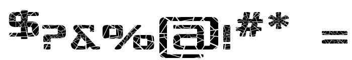 Republika IV Exp - Shatter Font OTHER CHARS