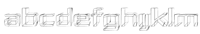 Republika IV Exp - Sketch Font UPPERCASE