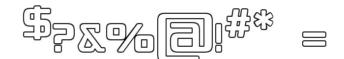 Republika IV - Outline Font OTHER CHARS