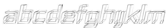 Republika IV - Sketch Italic Font UPPERCASE
