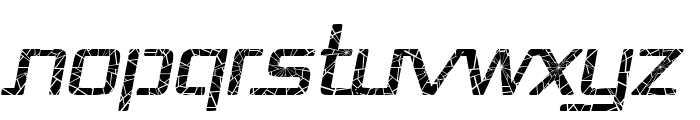 Republika - Shatter Italic Font UPPERCASE