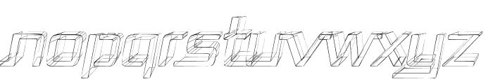 Republika - Sktech Italic Font UPPERCASE