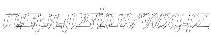 Republika - Sktech Italic Font LOWERCASE