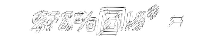 Republika V Cnd - Sktech Italic Font OTHER CHARS