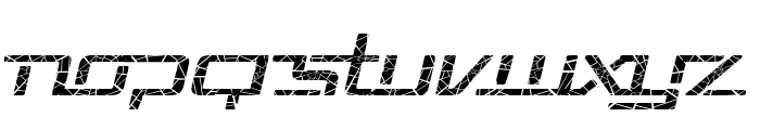 Republika V Exp - Shatter Italic Font UPPERCASE