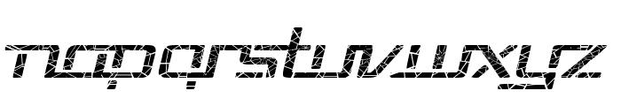 Republika V Exp - Shatter Italic Font LOWERCASE