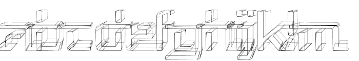 Republika V - Sketch Font LOWERCASE