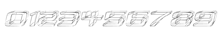 Republikaps Exp - Sketch Italic Font OTHER CHARS