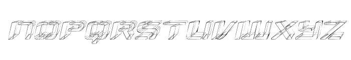 Republikaps Exp - Sketch Italic Font LOWERCASE