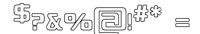 Republikaps - Outline Font OTHER CHARS