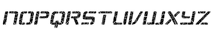 Republikaps - Shatter Italic Font LOWERCASE