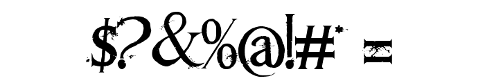 Requiem II Font OTHER CHARS
