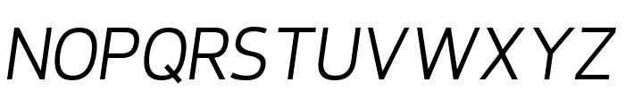 Requiem Italic Font UPPERCASE