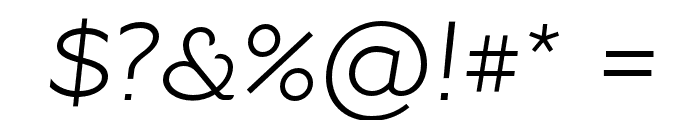 Resamitz Italic Font OTHER CHARS