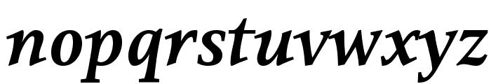 Resavska BG-Bold Italic Font LOWERCASE