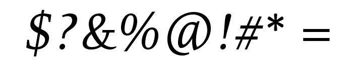 Resavska BG-Italic Font OTHER CHARS