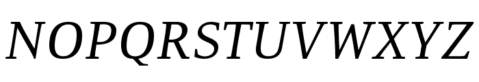 Resavska BG-Italic Font UPPERCASE
