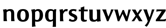 Resavska BG Sans Bold Font LOWERCASE