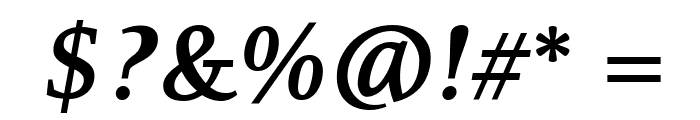 Resavska BG TT-Bold Italic Font OTHER CHARS