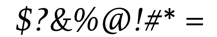 Resavska BG TT-Italic Font OTHER CHARS