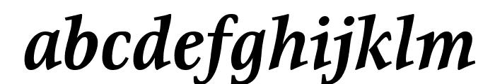 Resavska BG YU-Bold Italic Font LOWERCASE