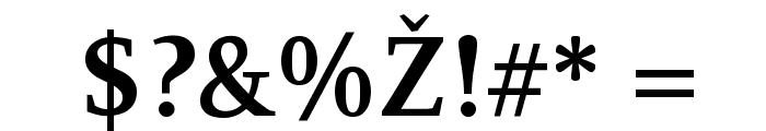 Resavska BG YU-Bold Font OTHER CHARS