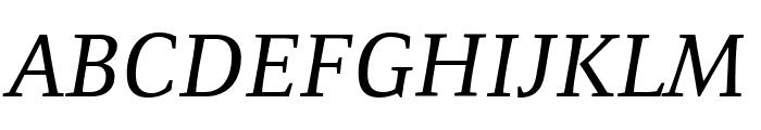 Resavska BG YU-Italic Font UPPERCASE
