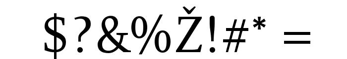 Resavska BG YU Font OTHER CHARS