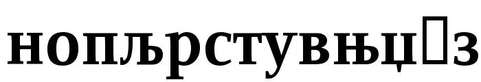 ResavskaBGCyrillic Bold Font LOWERCASE