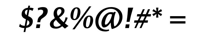 ResavskaBGSans-BoldItalic Font OTHER CHARS