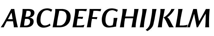 ResavskaBGSans-BoldItalic Font UPPERCASE