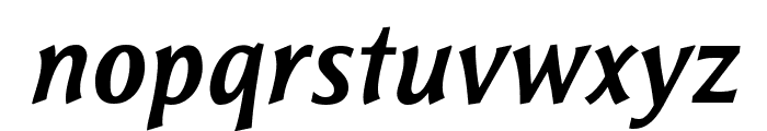 ResavskaBGSans-BoldItalic Font LOWERCASE