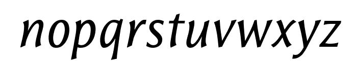ResavskaBGSans-Italic Font LOWERCASE
