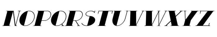 Resavy Italic Font UPPERCASE