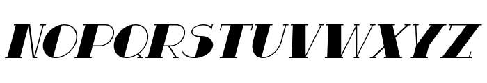 Resavy Italic Font LOWERCASE
