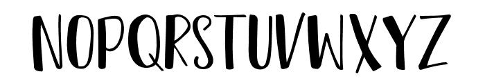 Reshuffle Sans Regular Font UPPERCASE