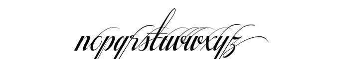 Respective Swashes Slanted Font LOWERCASE