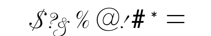 RespighiOpti-Script Font OTHER CHARS