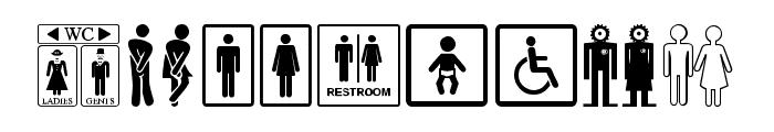 Restroom Font OTHER CHARS