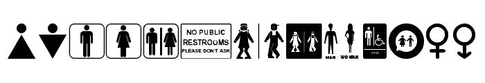 Restroom Font UPPERCASE