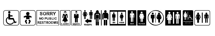 Restroom Font LOWERCASE