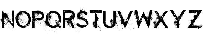 Retaliation Regular Font LOWERCASE