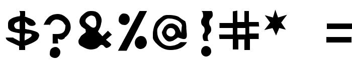 Retardo Bunyons Font OTHER CHARS