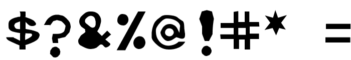 Retardo Splat Font OTHER CHARS
