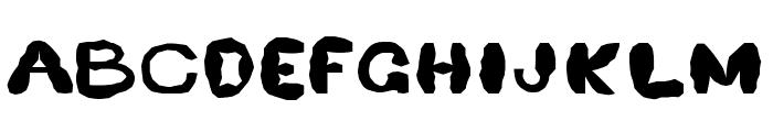 Retardo Splat Font UPPERCASE