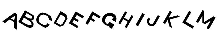 Retardo Tipsy Font UPPERCASE
