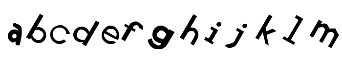 Retardo Tipsy Font LOWERCASE