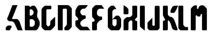 Reticulan Font UPPERCASE