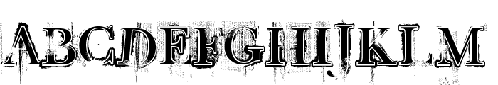 Retro Rock Poster Font UPPERCASE